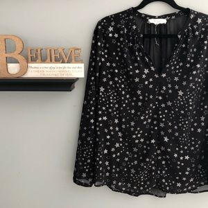 Two by Vince Camuto Starry Night Blouse